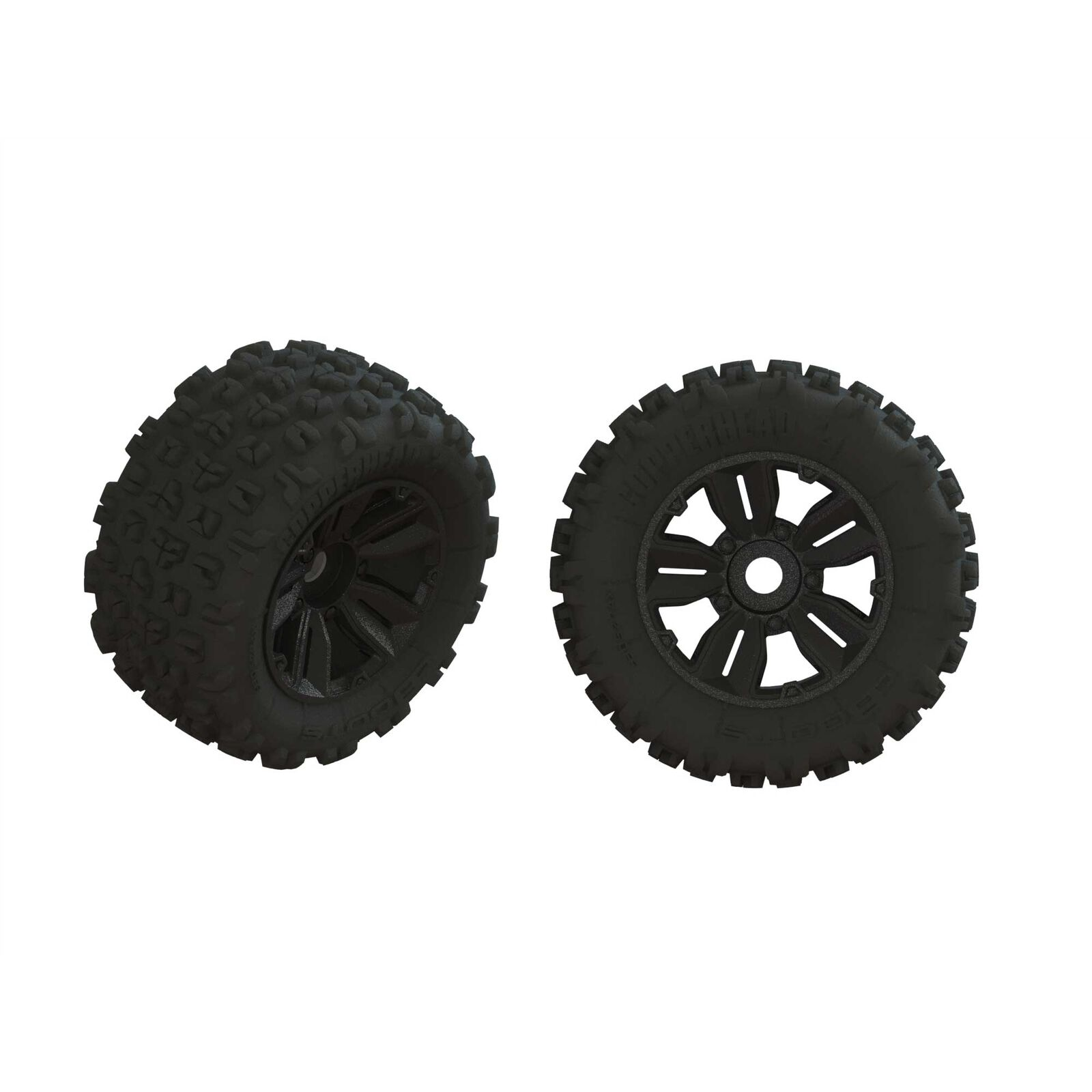 1/5 dBoots Copperhead2 SB MT Front/Rear 3.9 Pre-Mounted Tires, 17mm Hex (2)