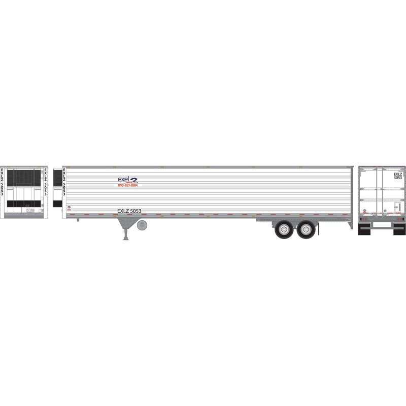 HO RTR 53' Utility Reefer Trailer Excel Truck#5053