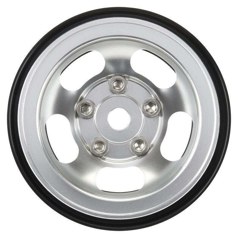 "1/10 Slot Mag F/R 1.55"" Rock Crawler 12mm Wheels (2) Aluminum"