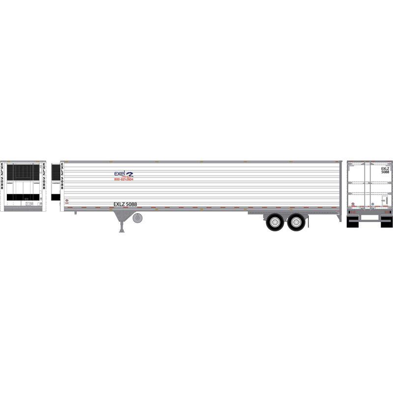 HO RTR 53' Utility Reefer Trailer Excel Truck#5088