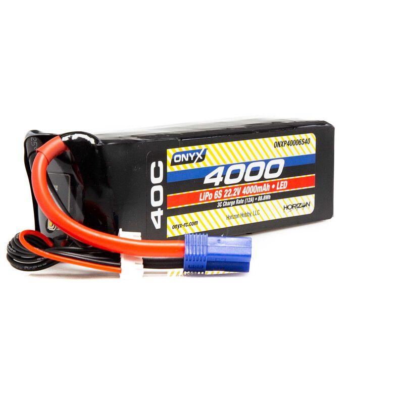 22.2V 4000mAh 6S 40C LiPo Battery: EC5