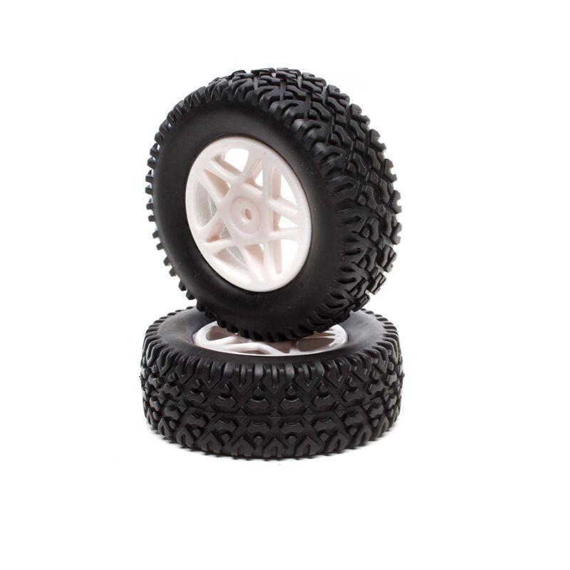 Fornt/Rear Tires Premount (2): 1/18 4WD Seismic SCT