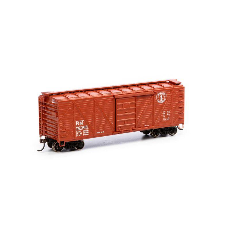 HO 40' Ribbed Wooden Box B&M #72466