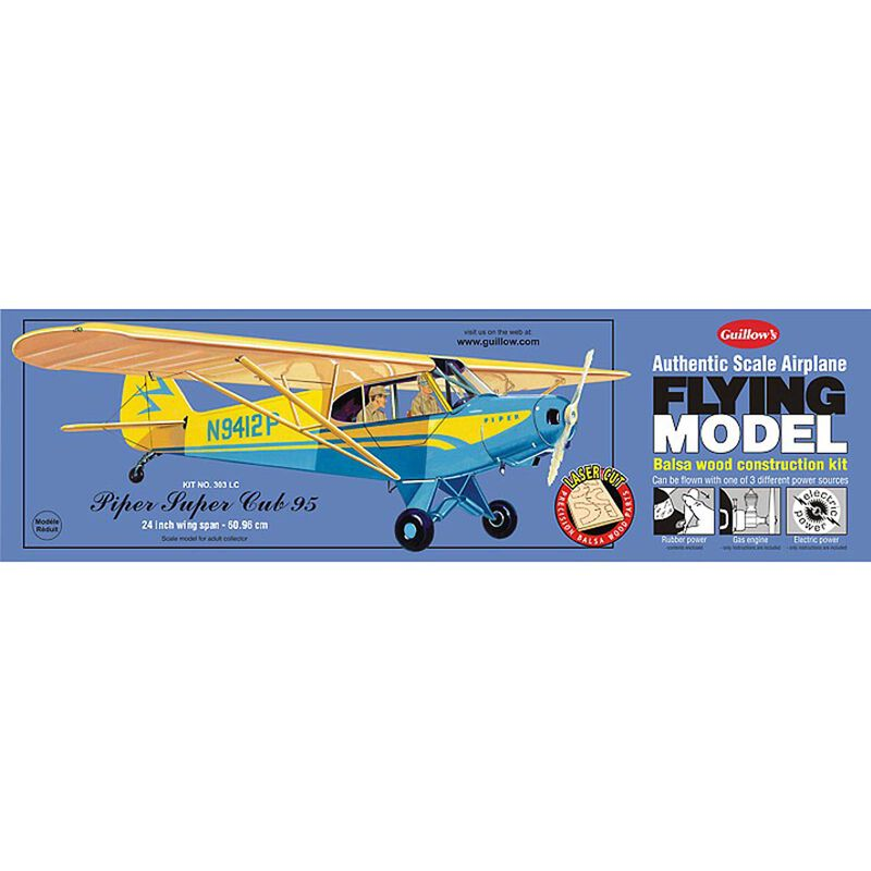 Piper Cub 95 Laser Cut Kit, 24""