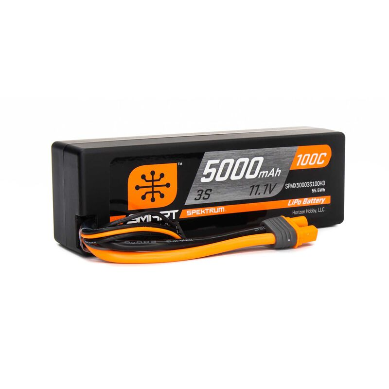 11.1V 5000mAh 3S 100C Smart Hardcase LiPo Battery: IC3