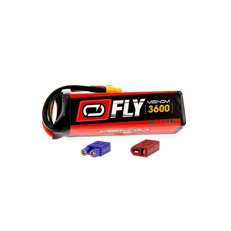 14.8V 3600mAh 4S 50C FLY LiPo Battery: UNI 2.0 Plug