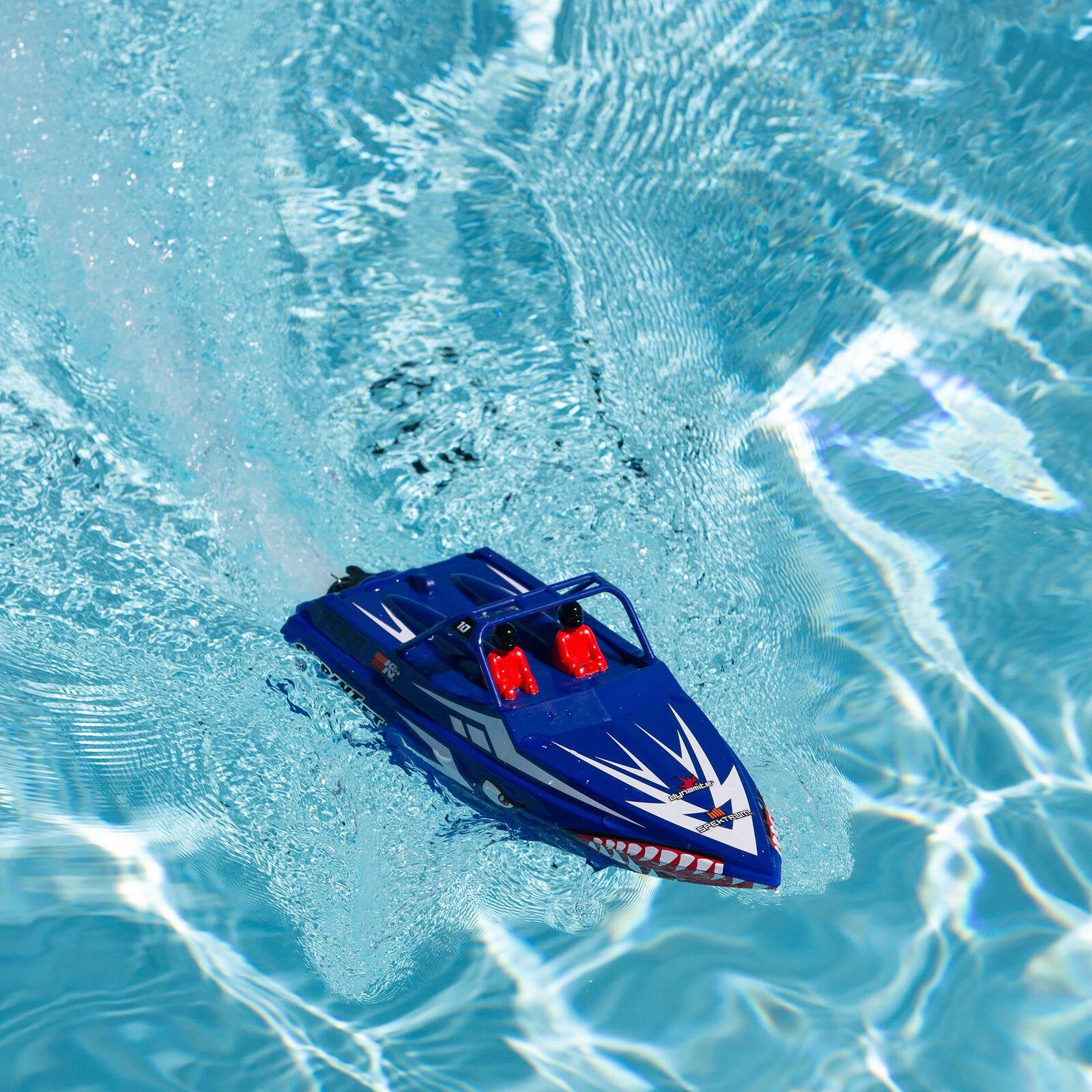 """Sprintjet 9"""" Self-Righting Jet Boat Brushed RTR, Blue"""