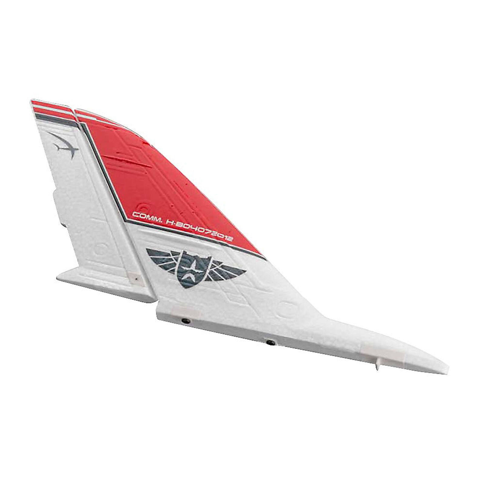 Vertical Stab with Rudder Control Horn: Hadron Flying Wing