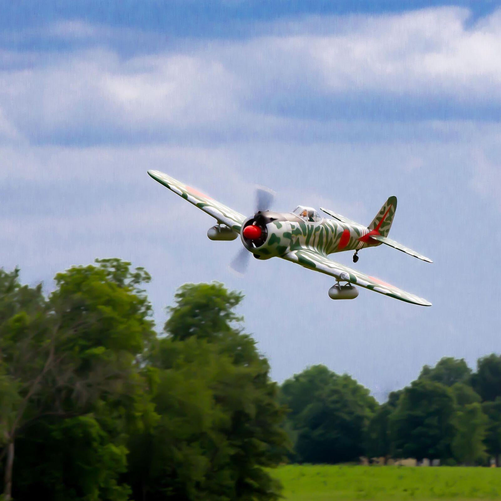 "Ki-43 Oscar 60cc ARF, 88"" with Main Retract Set & Saito FG-90R3 Gas Engine"