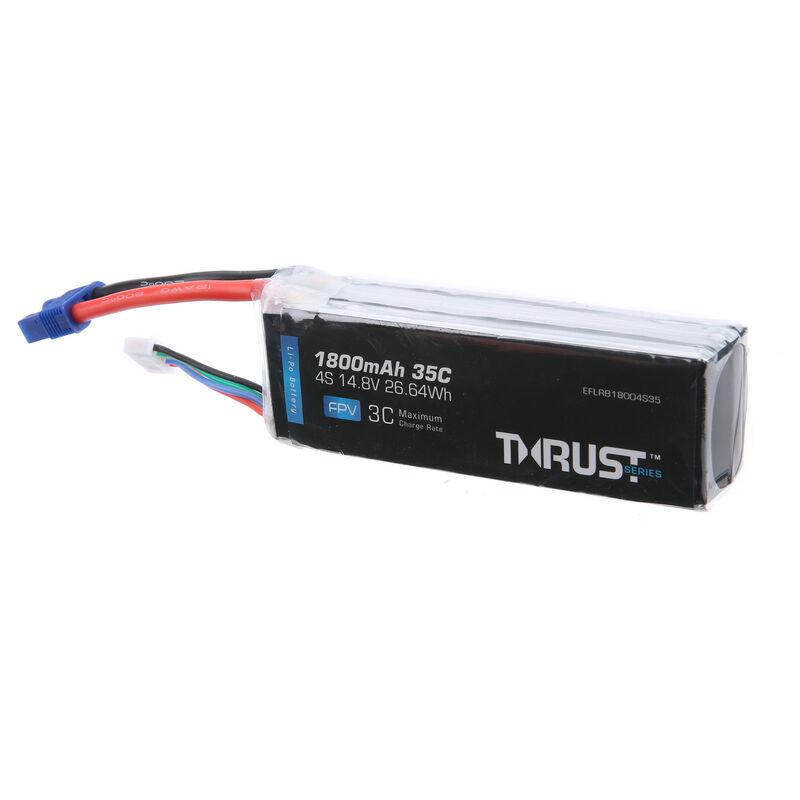 Thrust 14.8V 1800mAh 35C 4S Battery: EC3