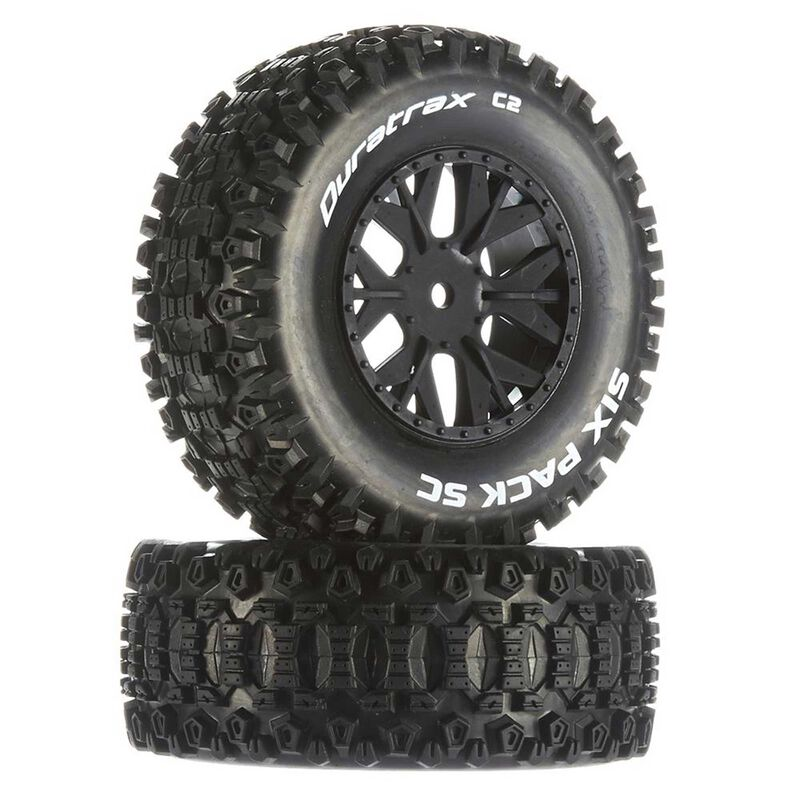 Six-Pack SC C2 Mounted Tires: Associated SC10 4x4 (2)