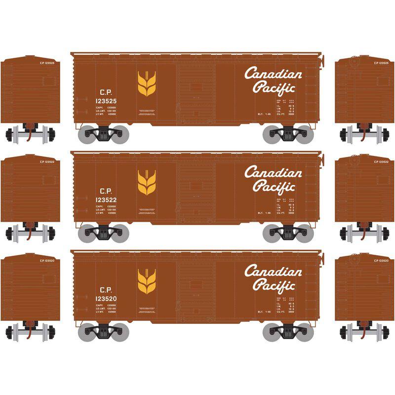 HO RTR 40' YSD Box CPR, Grain Service #1 (3)