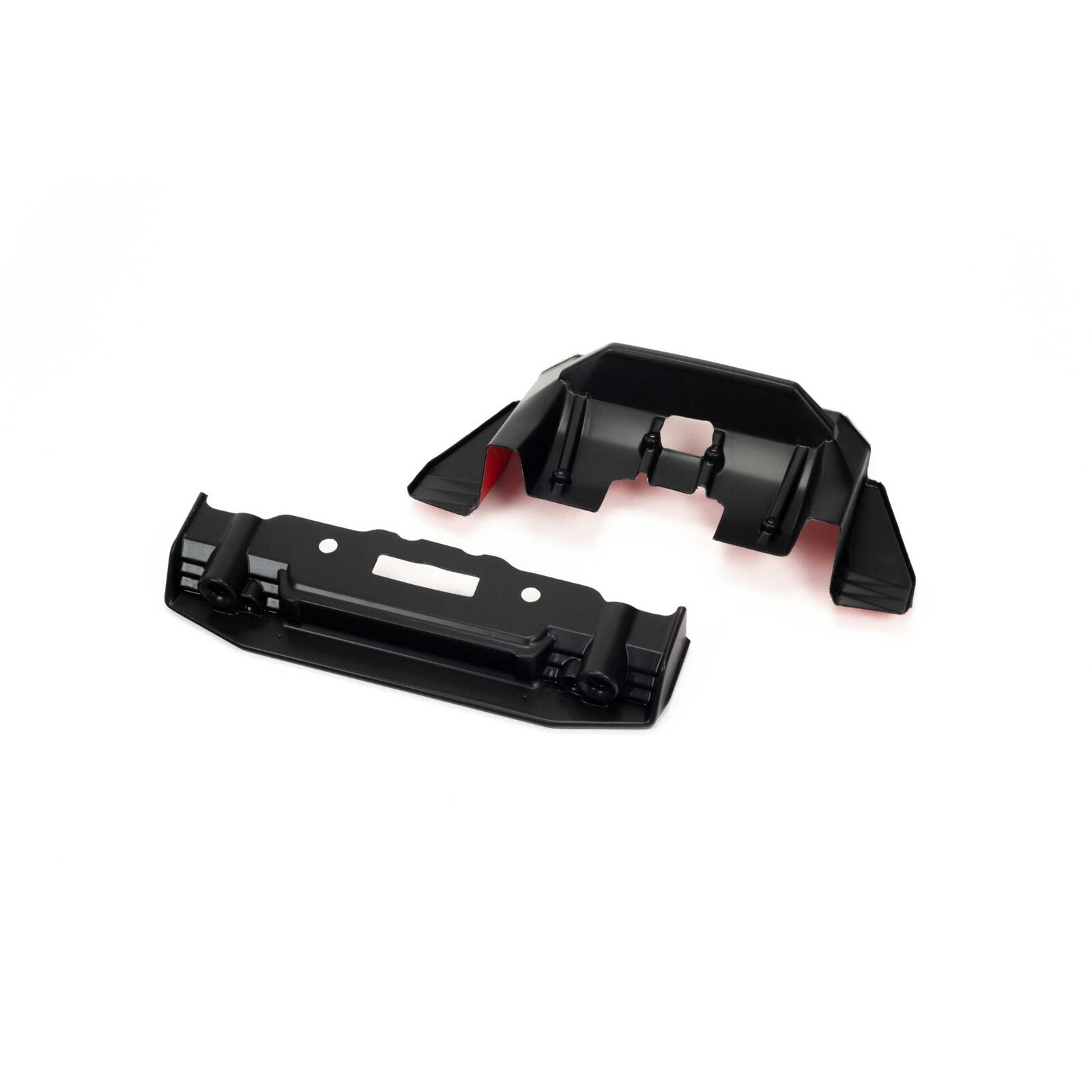 Painted Splitter And Diffuser, Black/Red: FELONY 6S BLX