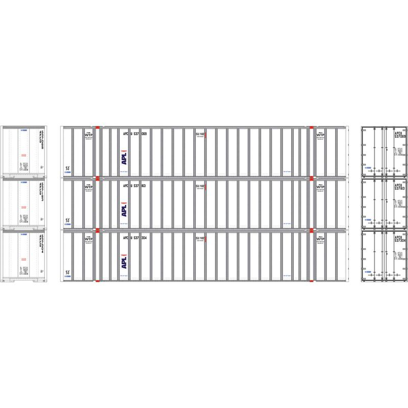 HO RTR 53' Stoughton Container, APL (3)