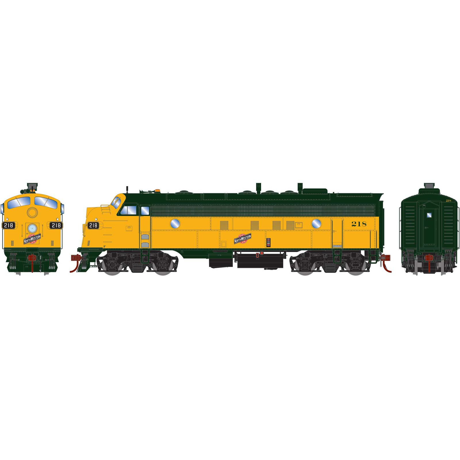 HO FP7A with DCC & Sound C&NW #218