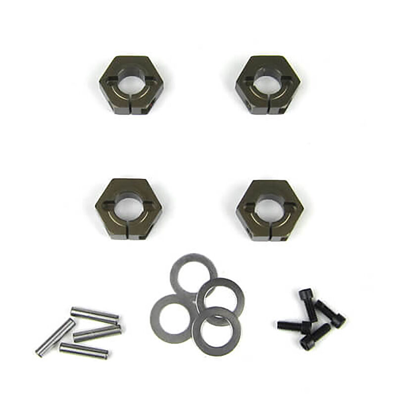 Wheel Hexes 12mm Aluminum (4): SCT410
