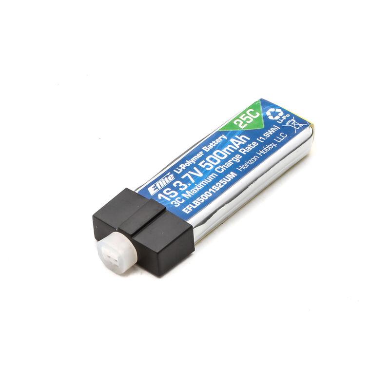 3.7V 500mAh 1S 25C LiPo Battery: PH 2.0 (High-Current Ultra Micro)