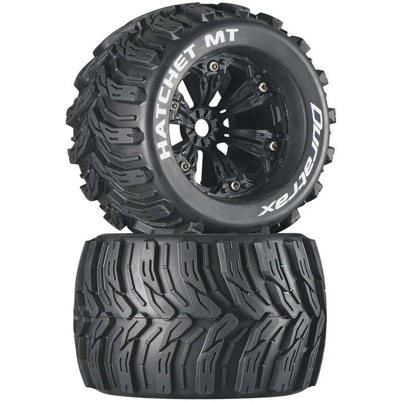"""Hatchet MT 3.8"""" Mounted 1/2"""" Offset Black Tires (2)"""