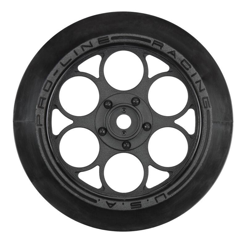 "1/10 Showtime Front Runner Front 2.2""/2.7"" 12mm Drag Wheels (2) Black"