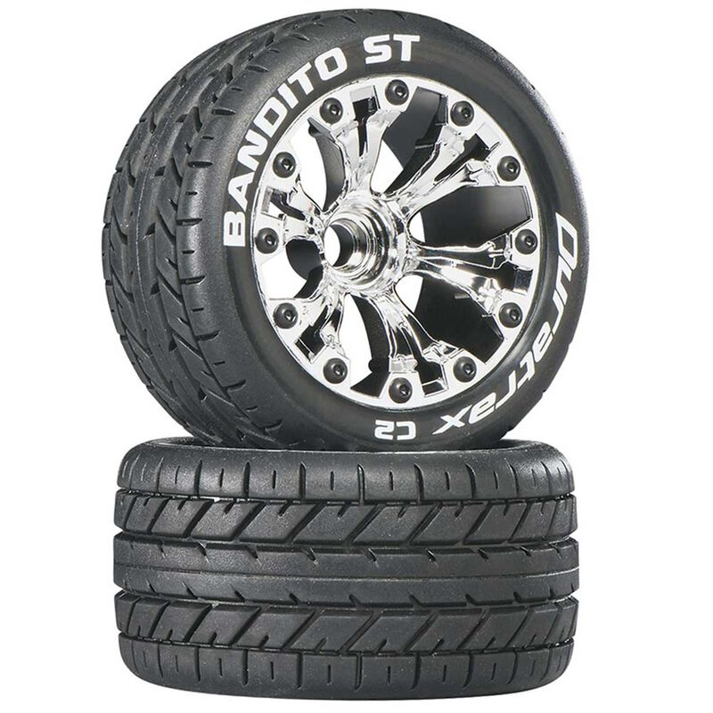 """Bandito ST 2.8"""" 2WD Mounted Front C2 Tires, Chrome (2)"""
