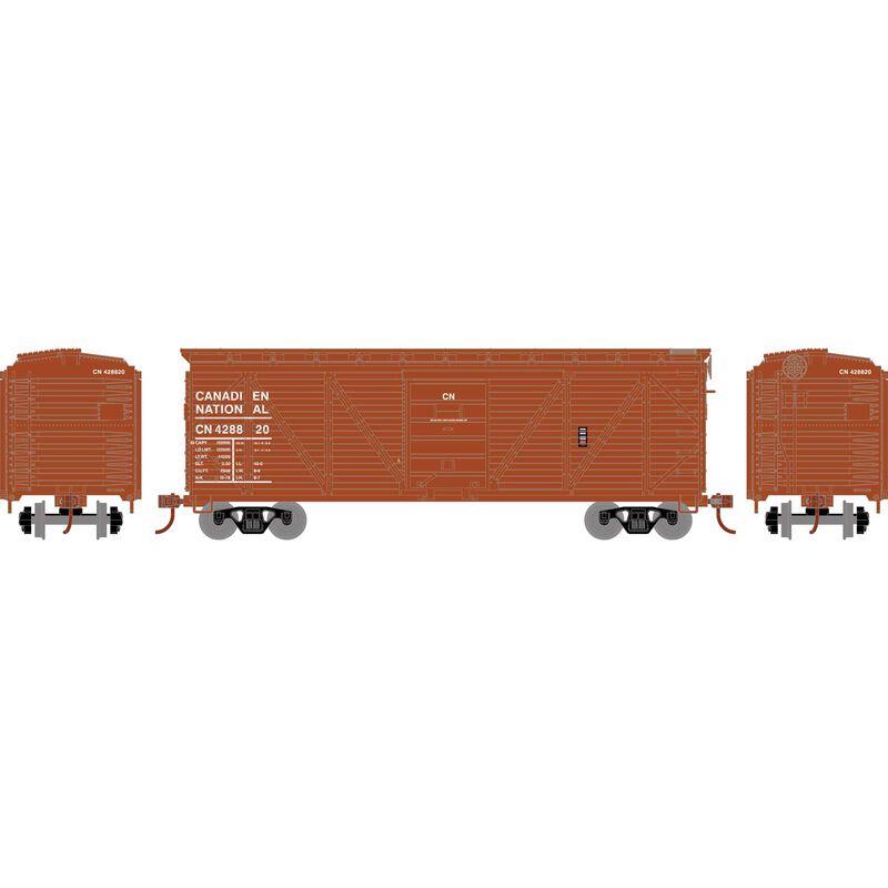 HO 40' Ribbed Wooden Box CN #428820