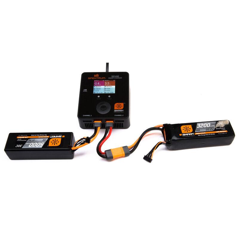 7.4V 5000mAh 2S 30C Smart Hardcase LiPo Battery: IC5