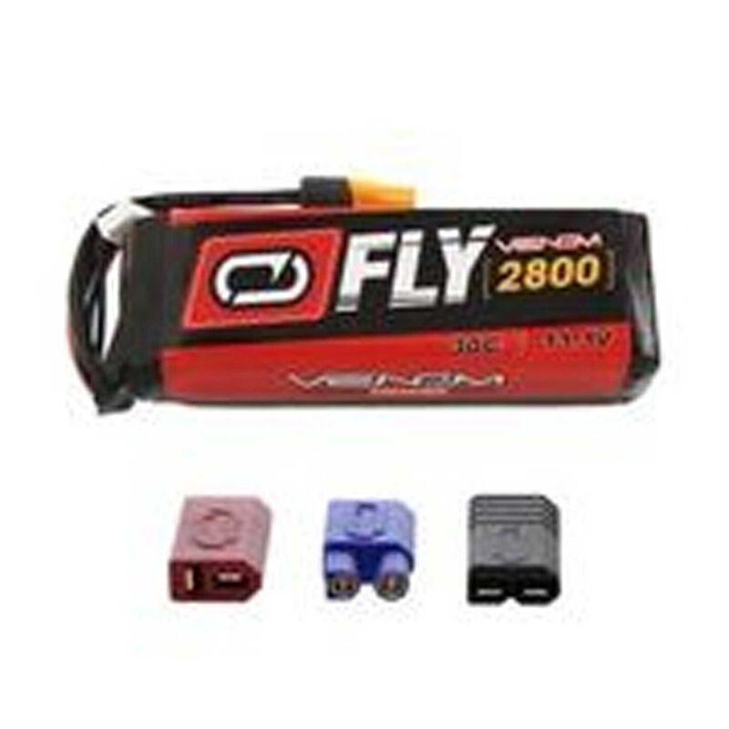11.1V 2800mAh 3S 30C LiPo Battery: UNI 2.0 Plug