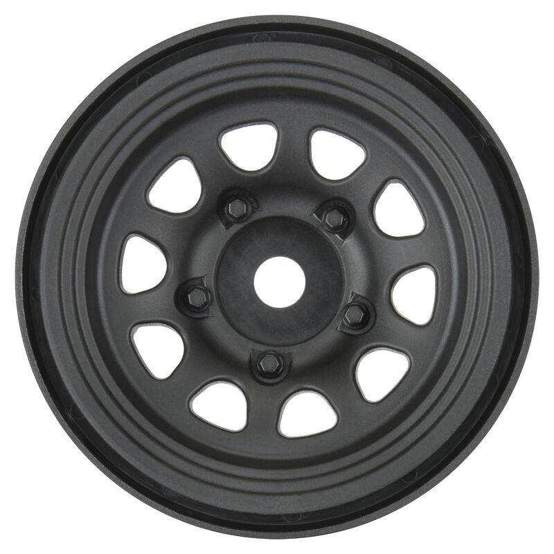 """1/10 Keystone F/R 1.55"""" Rock Crawler 12mm Wheels (2) Black"""