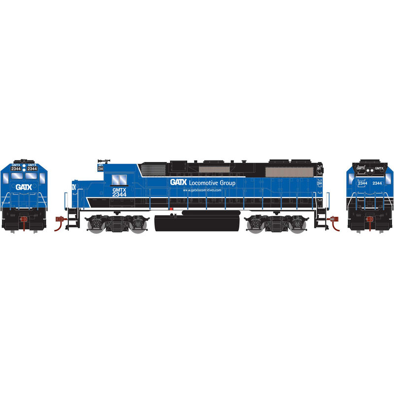 HO GP38-2 with DCC Decoder GATX Black and Blue #2344