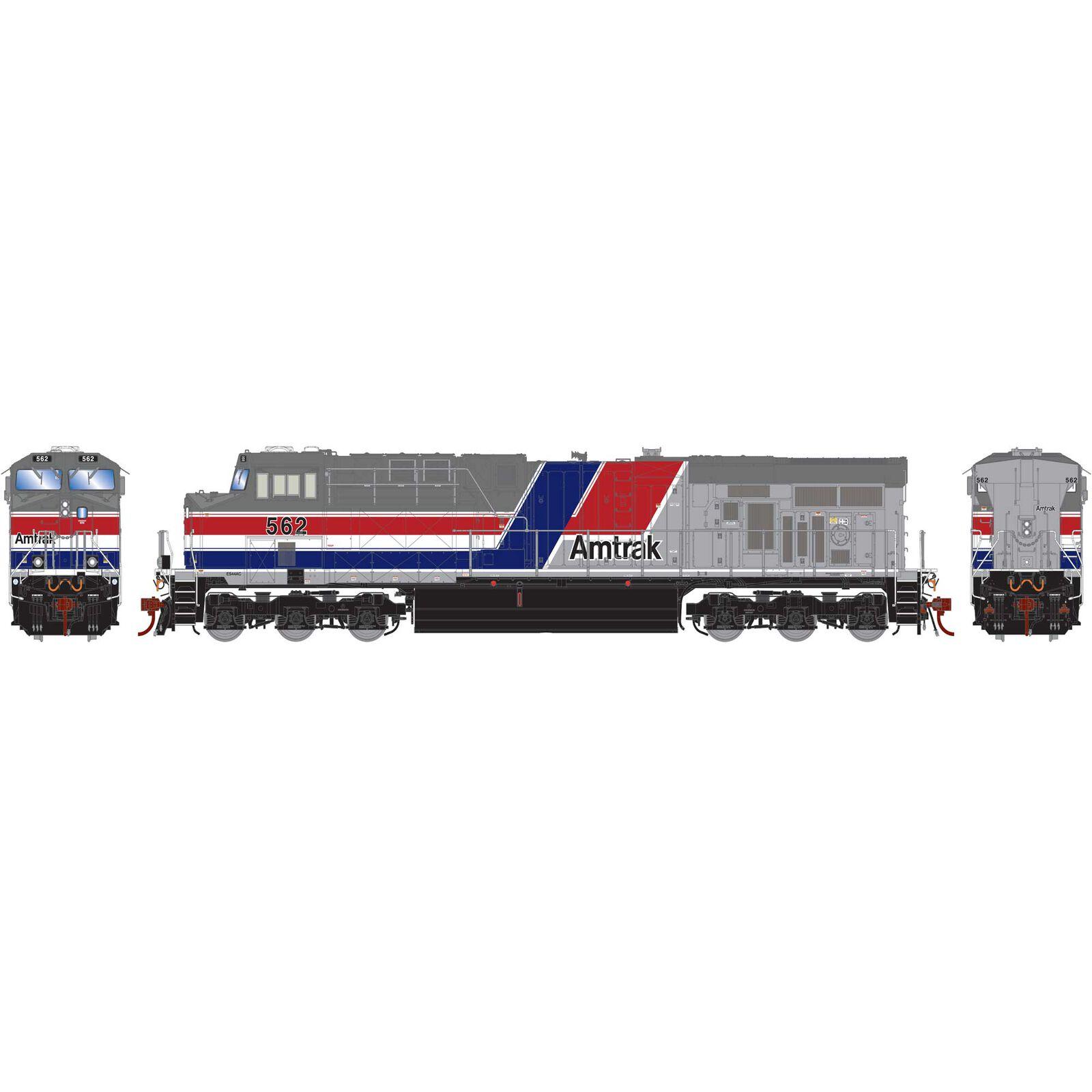 HO ES44AC with DCC & Sound Amtrak #562