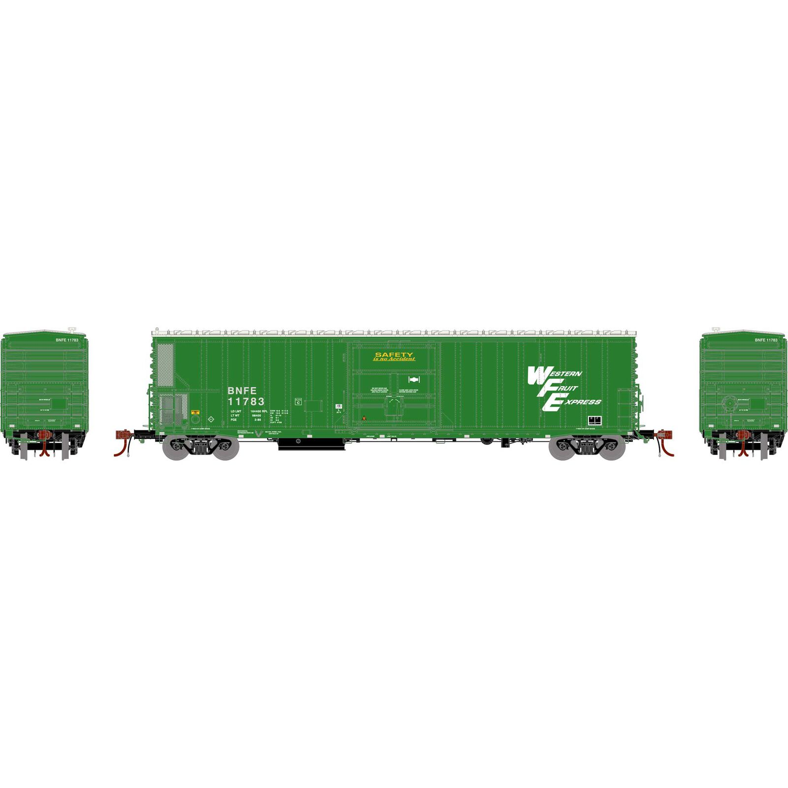 N 57' Mechanical Reefer with Sound, BNFE/Green #11783