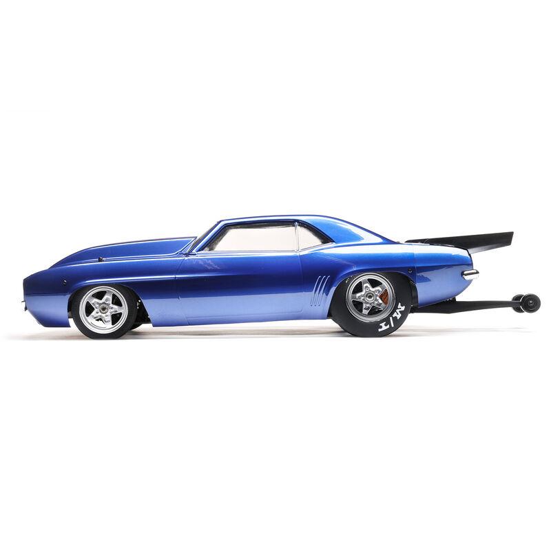 1/10 '69 Camaro 22S No Prep Drag Car, Brushless 2WD RTR, Blue