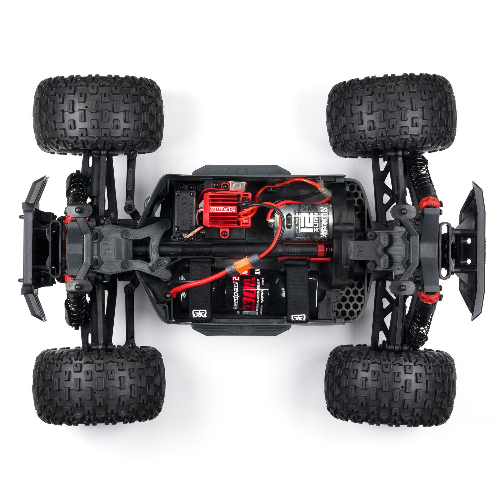 1/10 GRANITE 4X4 V3 MEGA 550 Brushed Monster Truck RTR, Red