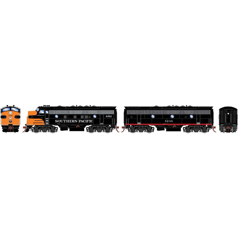 HO F7A F7B with DCC & Sound SP Freight #6362 #8248