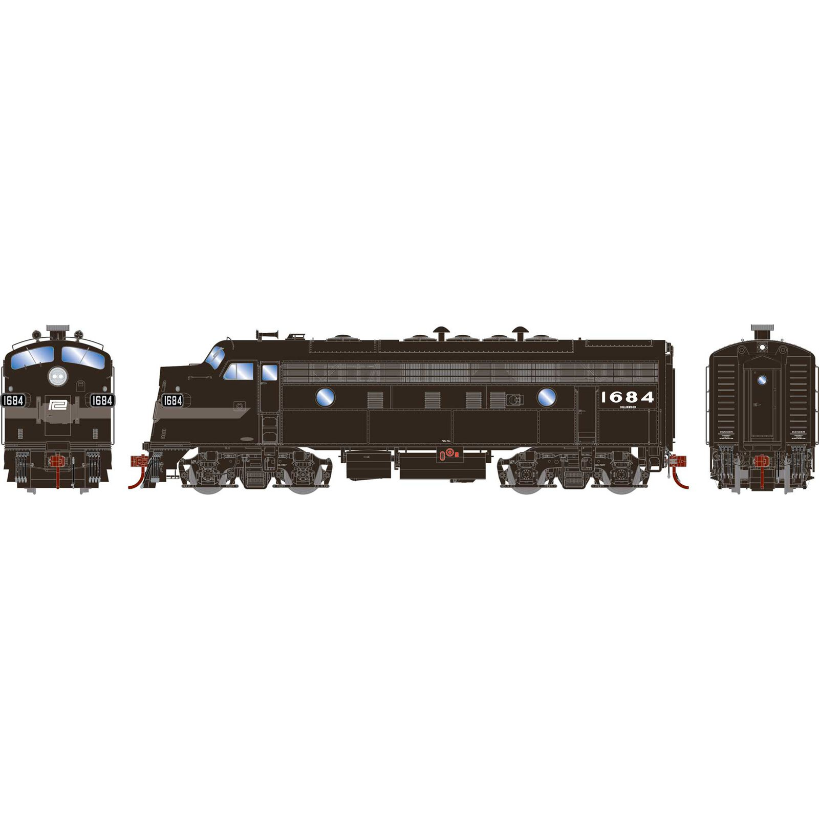 HO F7A PC Freight #1684