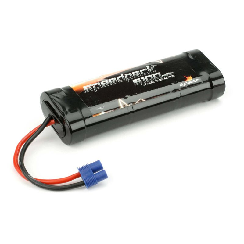 Speedpack 7.2V 5100mAh NiMH 6-Cell Flat with EC3 Conn
