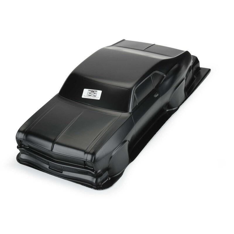 1/10 1969 Chevrolet Nova Tough-Color Black Body: Drag Car