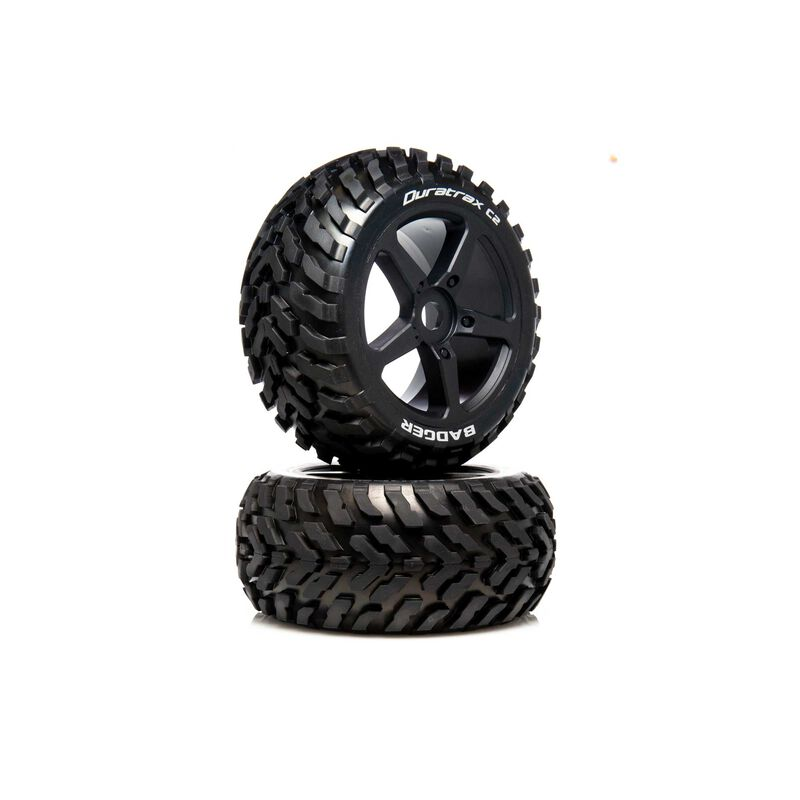 1/8 BADGER Truggy Tire C2 Mounted 0 Offset (2)