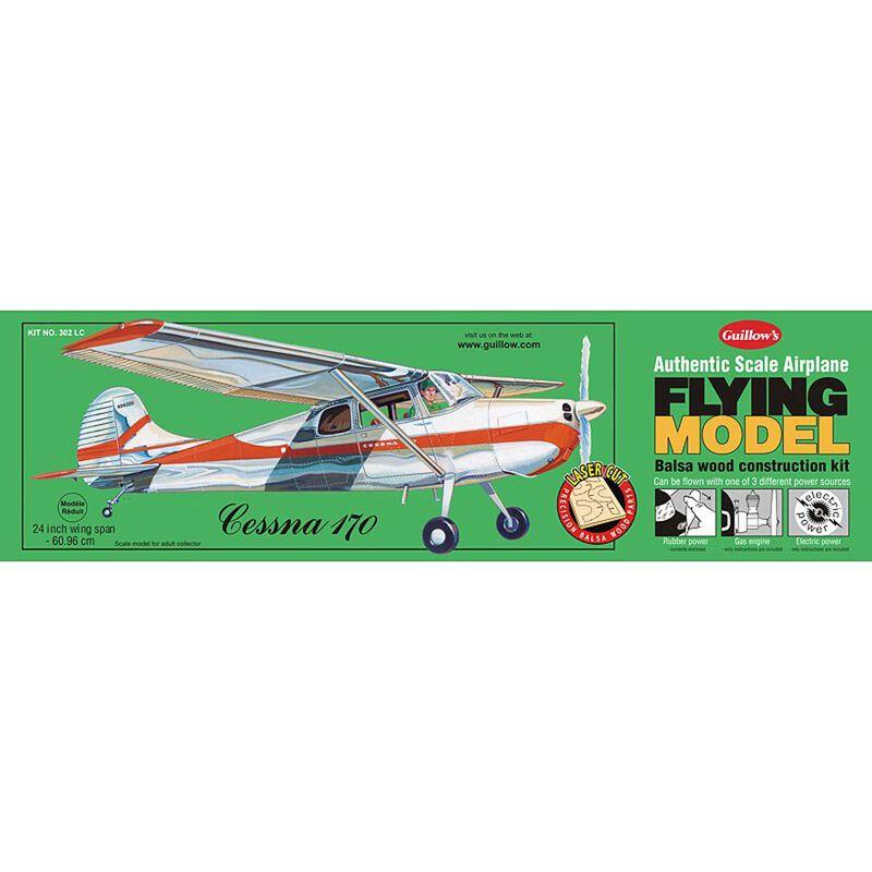 "Cessna 170 Laser Cut Kit, 24"""
