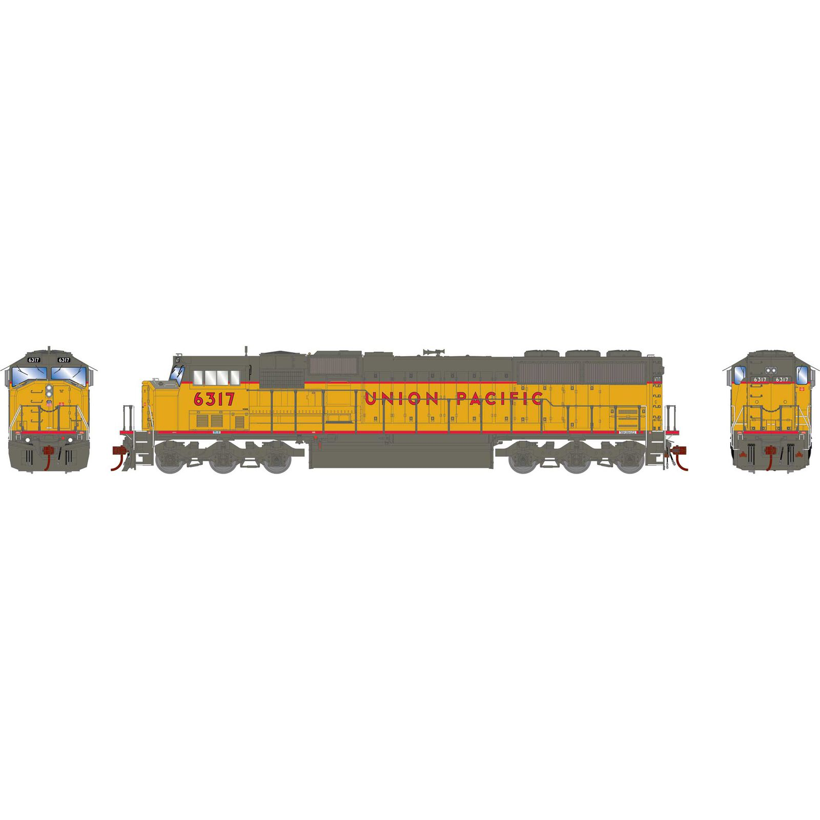 HO SD60M, UP/Red Sill/As Delivered #6317