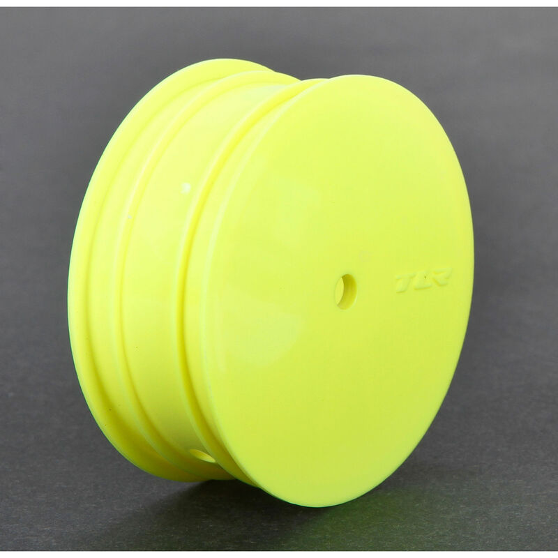 1/10 Front Buggy 2.2 Wheels, 12mm Hex, Yellow (2): 22 3.0