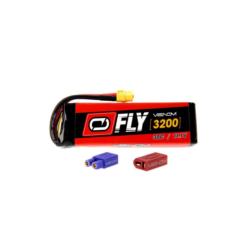 11.1V 3200mAh 30C 3S FLY LiPo Battery: UNI 2.0 Plug