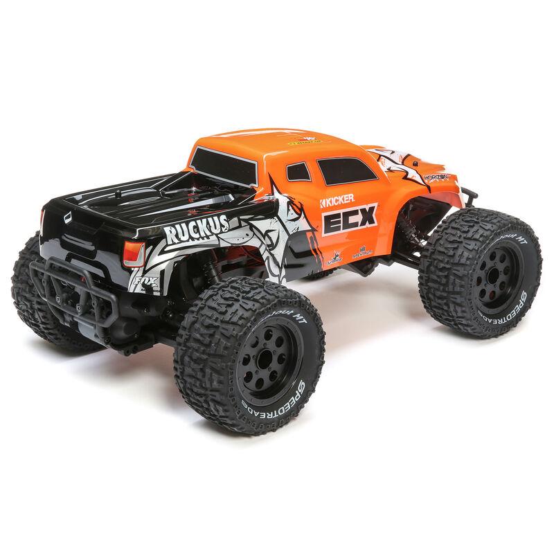 1/10 Ruckus 2WD Monster Truck Brushed RTR, Orange