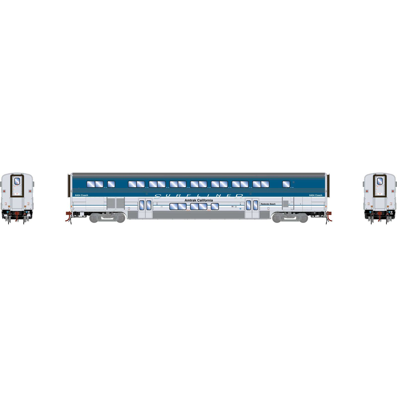 HO Surfliner Coach with Lights & Sound, Amtrak #6404