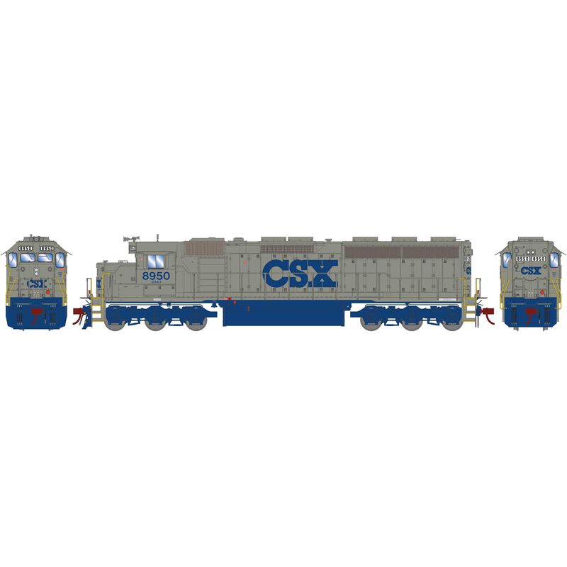HO SD45-2 with DCC & Sound CSX Solid Grey #8950