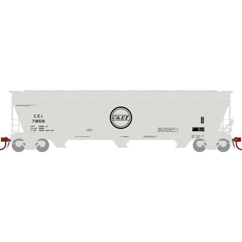 N ACF 4600 3-Bay Centerflow Hopper, C&EI #718519