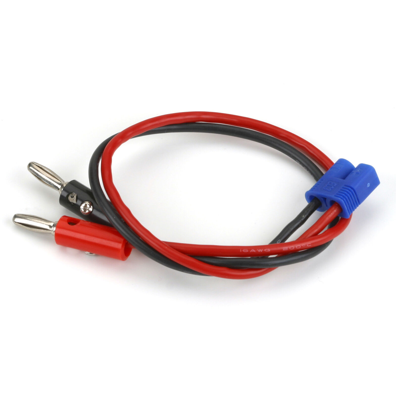 """Charge Lead: EC3 Device with 12"""" Wire & Jacks, 16 AWG"""