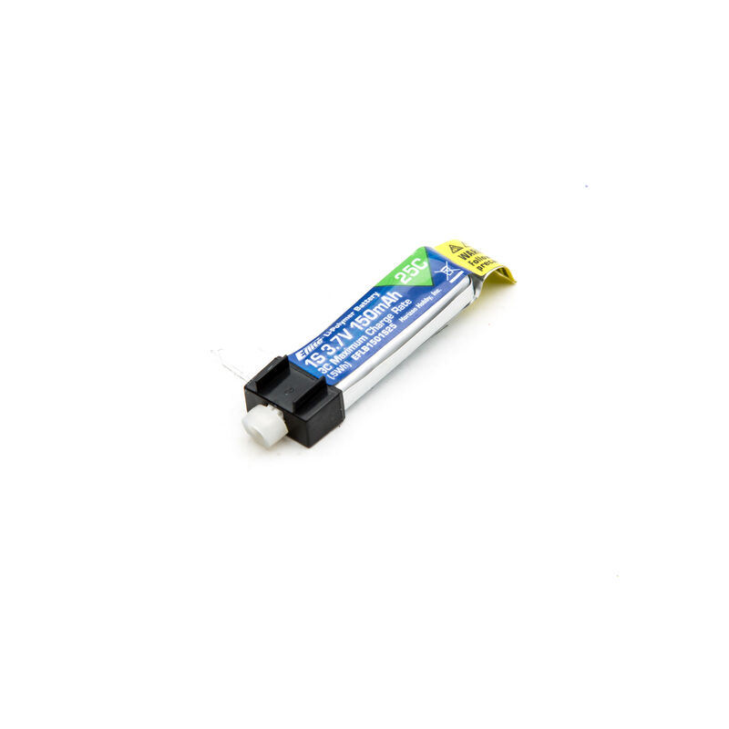 150mAh 1S 3.7V 25C LiPo Battery: PH 1.5 (Ultra Micro)