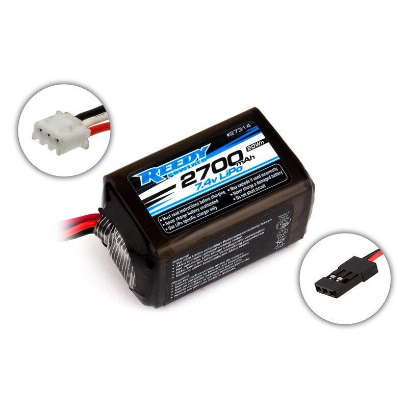 7.4V 2700mAH 2S Reedy LiPo Hump Receiver Battery: Universal Receiver