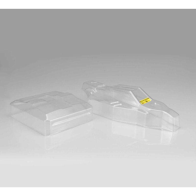 1/10 F2 Clear Body with Aero Wing: B6, B6D
